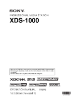 Sony_XDS-1000_Manual